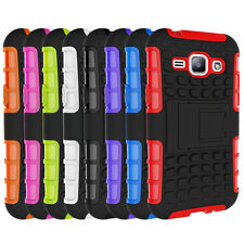 Heavy Duty Shockproof Tough Cover Case Kickstand For Samsung Galaxy J1 SM-J100