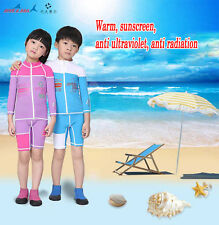 Kids Swimwear Long Sleeve Zip Up Swim Surf Shirt Rash Guard & Trunks Surf Set