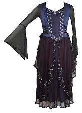 Dark Star Jordash Tie-Dye Bodice Dress Fairy Medieval Pagan Festival S M L-XL