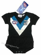 Port Adelaide Power Girls Tutu Baby Footysuit 'Select Size' 000-1 BNWT