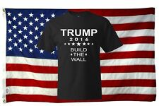 Trump for President 2016 Build the Wall! T-Shirt FREE SHIPPING MADE IN THE USA