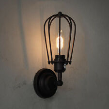Retro Pendant Light Droplight Vintage Bracket Wall Lamp Cage Edison Style Home