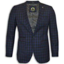 Mens Blazer Marc Darcy Formal Smart Casual Dinner Jacket Lined Check New
