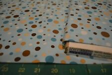 1 YD ROBERT KAUFMAN PIMATEX BASICS BKT-8996-79 AQUA DOTS NEW QUILT COTTON BTY