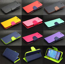 Flip Colors Wallet Card Cute TPU Leather Case Cover For Samsung Galaxy Phone Hot