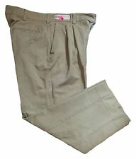 Khaki Pants Pleated Red Kap Men's Work Uniform Button Closure PT32KH Many Sizes