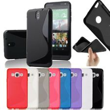 Brand New S-Line Soft Silicon Gel Case For HTC Desire 510 + Free Screen Guard