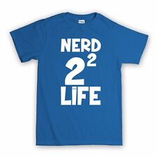 Nerd 4 Life Men's Womens Kids T shirt - Big Bang Theory Geek Gamer Tshirt