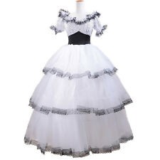 southern belle costume adult halloween tunic white spots gown ball lolita dress