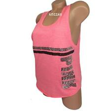 Victoria's Secret PINK Tank Top Muscle Tank Sequin Bling Tunic Racerback Pink