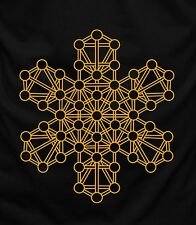 Mandala kabbalah Tree Of Life Mens T Shirt  Black Tee Funny Graphic Short Sleeve