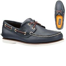 Timberland Mens Earthkeepers Classic 2 Eye Boat Shoe Navy Blue 74036 USA SELLER
