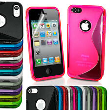 Apple iPhone 4 4S 4G Phone Case Cover S line TPU Gel Silicone Smart Skin Fitted