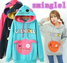 Japanese Mori Girl Kawaii Ugly Doll Monster Hoodie with Hat Cute Sweater Shirt