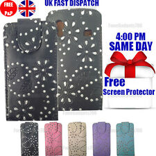 DIAMOND LEATHER FLIP CASE COVER & FREE SCREEN PROTECTOR FOR GALAXY ACE S5830