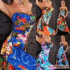 Womens Strapless Dress Size 8-10 Floral Maxi Evening New Cocktail Designer Wear