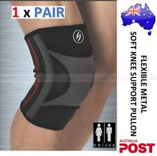 1xPAIR - KNEE PATELLA BRACE WITH FLEXIBLE METAL SPRING SUPPORT COMPRESSION BRACE