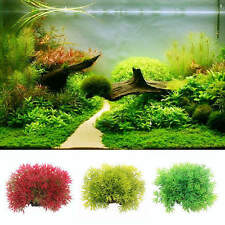Grass Aquarium Plastic Water Plants Landscaping Ornament Fish Tank Decor