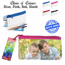 PERSONALISED ADD YOUR OWN IMAGE AND TEXT PENCIL CASE SCHOOL MAKE UP CASE
