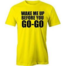 Wake Me Up Before You Go Go T-Shirt  80's Tee George Michael Wham! Tee New
