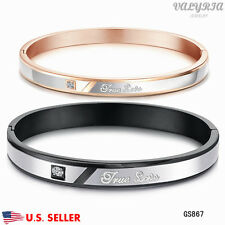 New VALYRIA 316L Stainless Steel Fashion TRUE LOVE Couple Lover's Bracelet USA