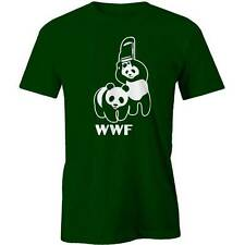 WWF Pandas T-Shirt Fighting Wrestling Parody Funny Tee New