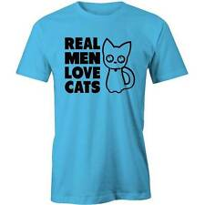Real Men Love Cats T-Shirt Cat Lady Lovers Cute Kitten Funny Crazy Tee New