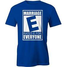 Marriage, Rated E For Everyone T-Shirt Wedding Marriage Funny Husband Wife Engag