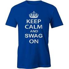 Keep Calm And Swag On T-Shirt  Hipster Hip Hop Dope Obey Funny Tee New