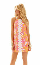 New Lilly Pulitzer 00 10 1214 Annabelle shift  Dress Sunshine Yellow Sea be Seen