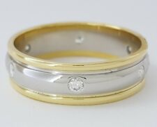 ~ 0.25 ct Novell Platinum & 18K Diamond Eternity Wedding Anniversary Band 6.5 mm