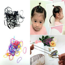 Rubber 400pcs Hairband Rope Ponytail Holder Elastic Hair Band Ties Braids Plait