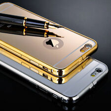 iPhone-6-6-Plus-5-5s Luxury Ultra thin Slim Metal Mirror Case Cover Aluminium