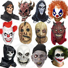 Latex Halloween Costume Overhead Clown Zombies Werewolf Skull Zipper Props Masks