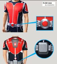 2015 Movie Ant-Man Helmet PVC Antman Cosplay Top Outfit T-shirt Short T Gift