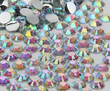 Iridescent A/B sparkling Resin Flatback Crystal Rhinestone 2,3,4,5,6,7MM 14 Face