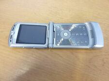 MOTOROLA V3 MOBILE PHONE - TESCO NETWORK - SILVER