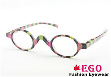 NEW EGO ROUND OVAL Black / Leopard / Rainbow Reading Glasses Unisex All Strength
