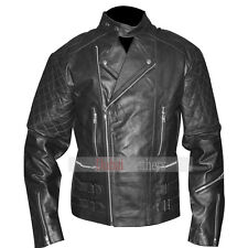 Mens Biker Leather Vintage Retro Classic Brando Slim Fit Motorcycle Jacket BNWT