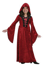 #GIRLS GOTHIC VAMPIRE DRESS CHILD HALLOWEEN PARTY FANCY DRESS HORROR OUTFIT