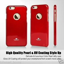 Genuine MERCURY Goospery Red Jelly Case Cover Apple LOGO Cutout For iPhone 6/6s