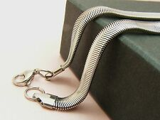 FASHION High Polish STAINLESS STEEL 6.5mm SMOOTH Flat SNAKE Chain NECKLACE