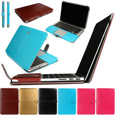 """New Laptop Bag Case for MacBook Air Pro Retina 11"""" 13"""" 15"""" Sleeve Leather Cover"""