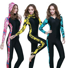 New Woman's Long Sleeve Rash Guards Swim Suit Surfing Scuba Diving Jump Suits