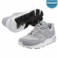 Mens PUMA TRINOMIC R698 Quarry White Trainers 357837 06