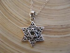 Special Star of David Pendant Necklace with 925 Sterling Silver Chain Unisex
