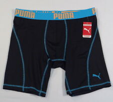 Puma Sport Signature Black Blue & Orange Boxer Brief Underwear Mens NWT