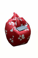 Black or Red dog paw kid bean bag indoor plush chair beanbags cover sofa adult