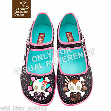 Hot Chocolate Design Shoes Chocolaticas Candy Skull Mary Jane Flats Size 5-11