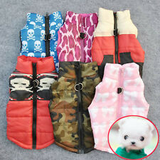 Newest Pet Cat Dog Costume Warm Padded Vest Harness Puppy Small Dog Coat Clothes